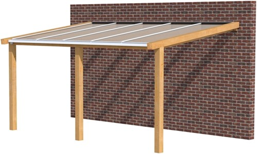 Hillhout douglas veranda Excellent 500, afm. 528 x 300 cm, opaal dakplaat-1