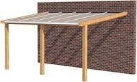 Hillhout douglas veranda Excellent 600, afm. 628 x 400 cm, heldere dakplaat-1