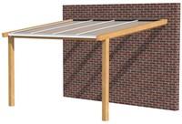 Hillhout douglas veranda Excellent 400, afm. 428 x 300 cm, heldere dakplaat-1