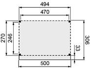Douglasvision buitenverblijf Comfort, afm. 394 x 270 cm, dakmaat 400 x 306 cm, douglas-3