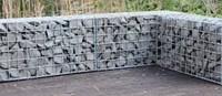 Schanskorf, afm.  60 x 30 x 30 cm, verzinkt staal, maas 5 x 5 cm.-2