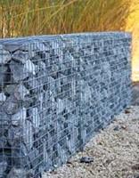 Schanskorf, afm. 150 x 50 x 50 cm, verzinkt staal, maas 10 x 10-2