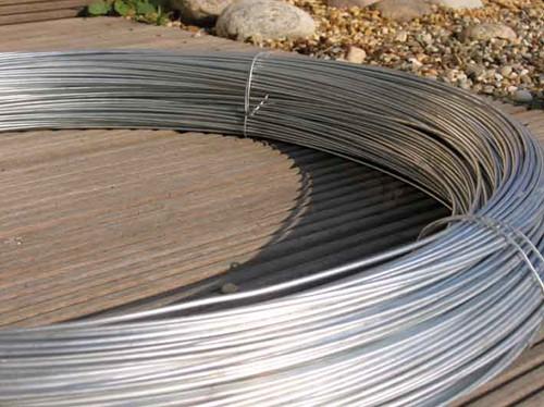Draad, dikte 2,0 mm,  rol 5 kg (= 202 m), verzinkt