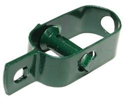 Draadspanner, klein, groen geplastificeerd .