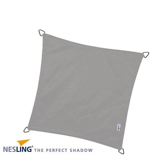 Nesling Dreamsail schaduwdoek, vierkant, afmeting 4 x 4 m, grijs