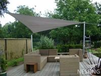 Nesling Dreamsail schaduwdoek, driehoek, afmeting 4 x 4 x 4 m, grijs-2