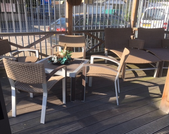 Les Jardins Dripper loungeset sunloom, showmodel