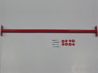 Duikelstang, afm.  Ø 3,3, lengte 125 cm, rood, incl. bevestigingsmateriaal