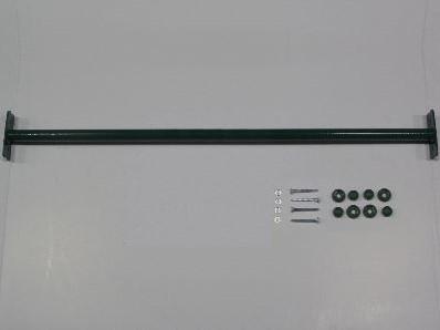 Duikelstang, afm.  Ø 3,3, lengte 125 cm, groen, incl. bevestigingsmateriaal