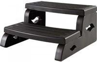 Spa DuraStep II, kunststof 2-traps opstap, kleur black