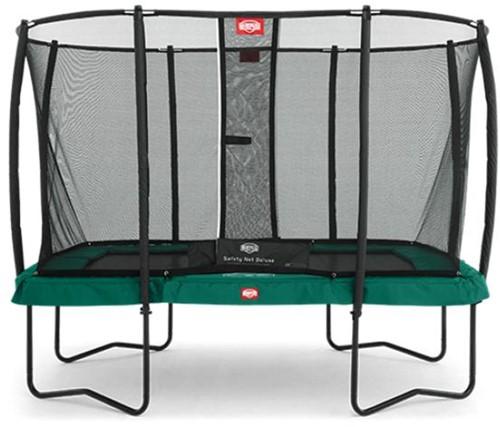 BERG trampoline EazyFit groen, veiligheidsnet DeLuxe EazyFit, afm. 220 x 330 cm.