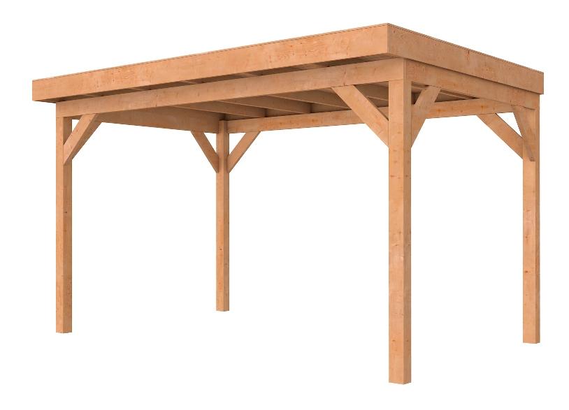 Woodvision tuinhout Douglasvision buitenverblijf Comfort, afm. 394 x 270 cm, dakmaat 400 x 306 cm, douglas - onbehandeld (blank) douglas