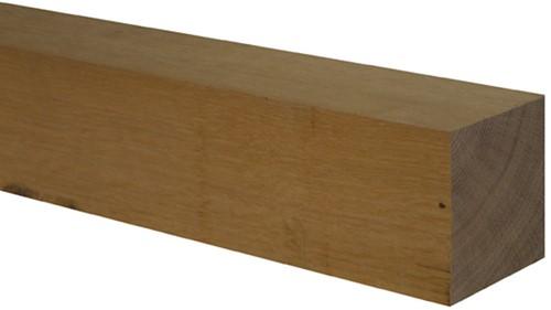 eiken paal, fijn bezaagd, afm. 12,0 x 12,0 cm, lengte 400 cm