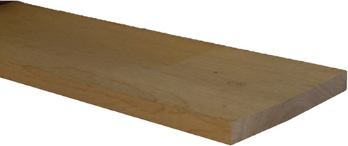 eiken plank, fijn bezaagd, afm.  2,2 x  20,0 cm, lengte 500 cm