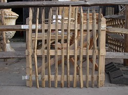 eiken poortframe, afm.145 x 100 cm voor kastanje hekwerk