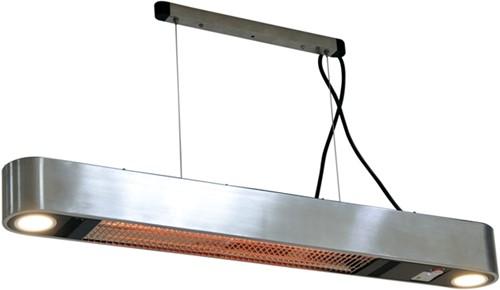Sunred elektrische terrasheater Ellips, Carbon Fibre, vermogen 1500 W, hangmodel, rvs