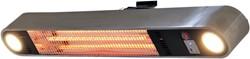 Sunred elektrische terrasheater Ellips, Carbon Fibre, vermogen 1500 W, wandmodel, rvs