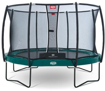 BERG trampoline Elite+ groen, veiligheidsnet T-series, diam. 330 cm.