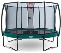 BERG trampoline Elite+ Tattoo groen, veiligheidsnet T-series, diam. 430 cm.