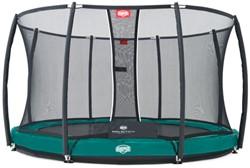 BERG inground trampoline Elite+ groen, veiligheidsnet T-series, diam. 380 cm.
