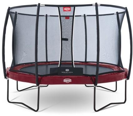 BERG trampoline Elite+ rood, veiligheidsnet T-series, diam. 330 cm.
