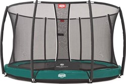 BERG inground  trampoline Elite+ groen, veiligheidsnet T-series, diam. 330 cm.