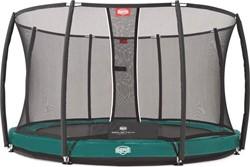 BERG inground trampoline Elite+ Tattoo groen, veiligheidsnet T-series, diam. 430 cm.