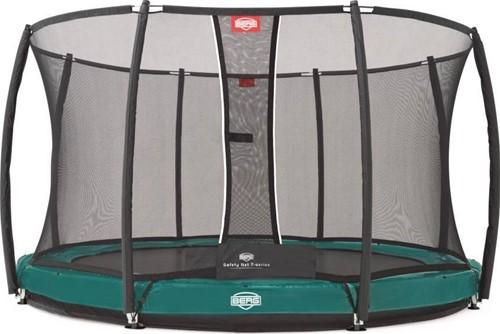 BERG inground trampoline Elite+ Tattoo groen, veiligheidsnet T-series, diam. 430 cm.-1