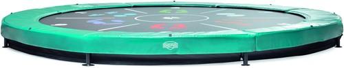 BERG Sport inground trampoline Elite+ Tattoo, groen, diam. 430 cm.