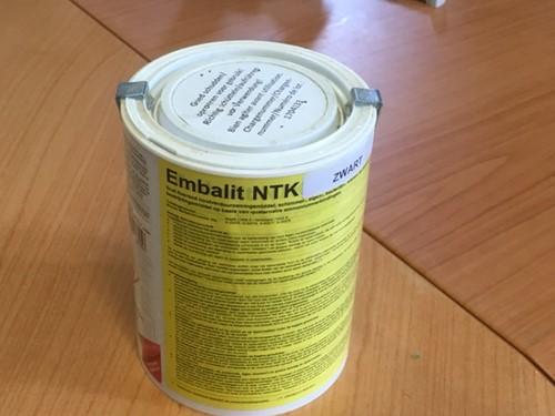Woodvision Embalit NTK impregneervloeistof, bus a 75 cltr., zwart