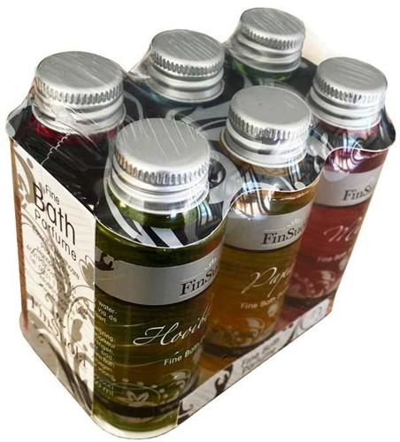 Badparfum mini, 6 verschillende geuren in flesjes van 60 ml