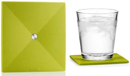 Eva Solo 4 onderzetters, 9x9 cm, groen