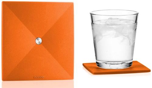 Eva Solo 4 onderzetters, 9x9 cm, oranje
