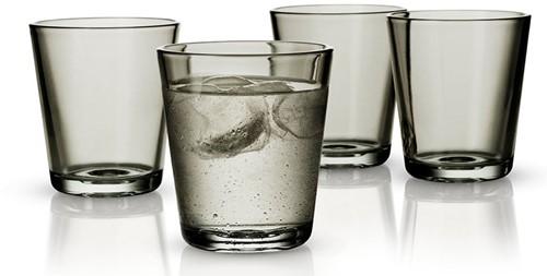 Eva Solo drinkglazen, inhoud 25 cl, set van 4 stuks, grijs