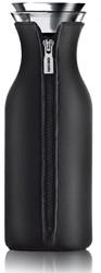 Eva Solo Fridge karaf, inhoud 1,0 liter, glas met zwarte hoes