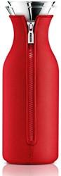 Eva Solo Fridge karaf, inhoud 1,0 liter, glas met rode hoes