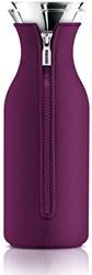 Eva Solo Fridge karaf, inhoud 1,0 liter, glas met paarse hoes