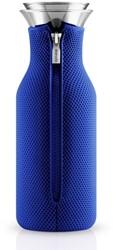 Eva Solo Fridge karaf, inhoud 1,0 liter, glas met blauwe hoes in 3D