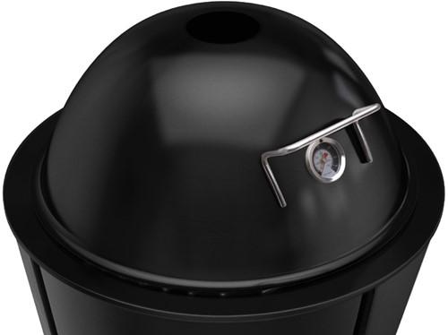 Eva Solo deksel voor houtskoolbarbecue met thermometer, diameter 59 cm, zwart