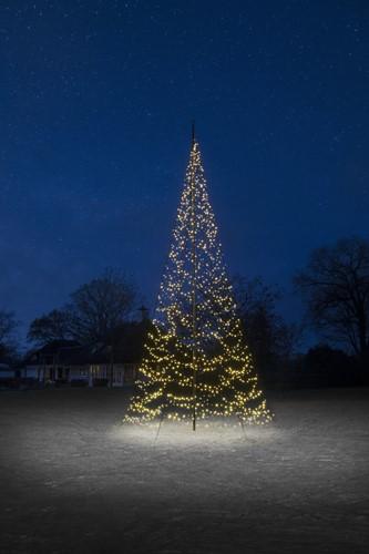 Fairybell vlaggenmast kerstboom, 8 meter, 1500 LEDs, warm white