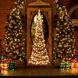 Fairybell deurkerstboom, hoogte  210 cm, 240 LED's