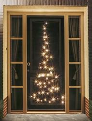 Fairybell deurkerstboom, hoogte  210 cm, 60 LED's