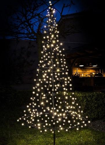 Fairybell vlaggenmast kerstboom, 6 meter, 1200 LEDs, warm white met twinkle
