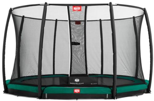 BERG inground trampoline Favorit, diam. 380 cm. - Safety Net Comfort - groen