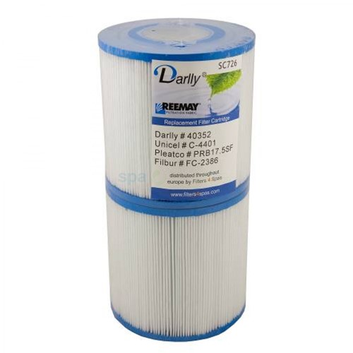 Spa filter voor jacuzzi, afm. 35 ft2, set 2 stuks