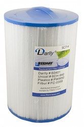 Darlly spa filter voor jacuzzi, type SC714,  afm. 45 ft2 (6CH-940)