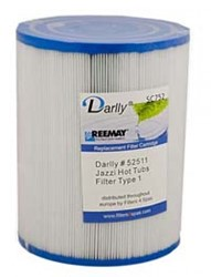 Darlly spa filter voor jacuzzi, type SC752, afm. 25 ft2