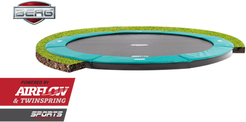 BERG flatground trampoline Champion, diam. 330 cm.-3