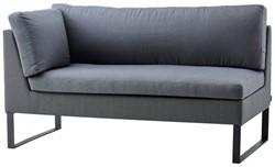 Cane-line Flex 2 persoons lounge bank, rechter module - grijs