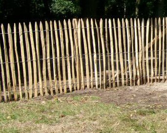 Frans kastanje hekwerk, hoogte 120 cm, rol 10 m, latafstand 8-10 cm